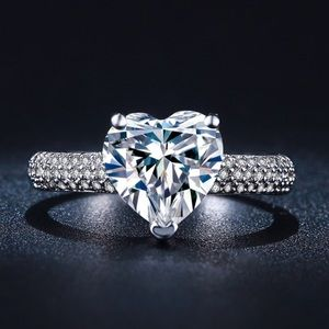 CZ Crystal Heart Ring NW
